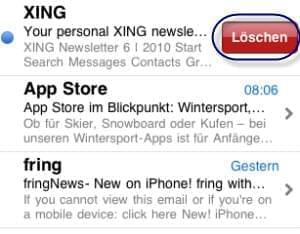 emails iphone löschen