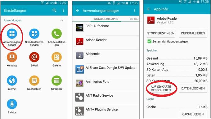 Tipps zum Verschieben von Android Apps auf SD-Karten